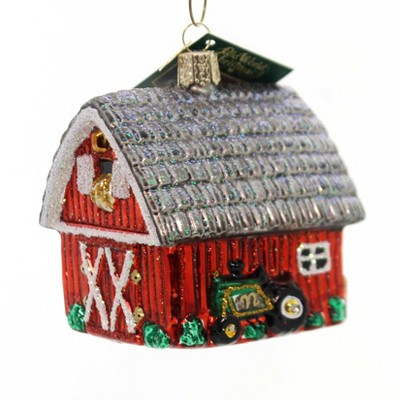 """Old World Christmas 3.25"""" Barn Country Traditional  -  Tree Ornaments"""