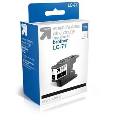 Remanufactured Single Black Standard Ink Cartridge - Compatible with Brother LC 71 Ink Series Printer - up & up™