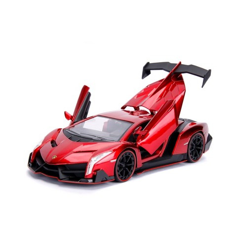 Jada Toys HyperSpec Lamborghini Veneno Die-Cast Vehicle 1:24 Scale Candy Red - image 1 of 4