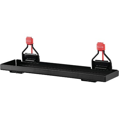 Rubbermaid Outdoor Metal Backyard Shed Accessories Shelf for Select Shelving Units, Individual, Black