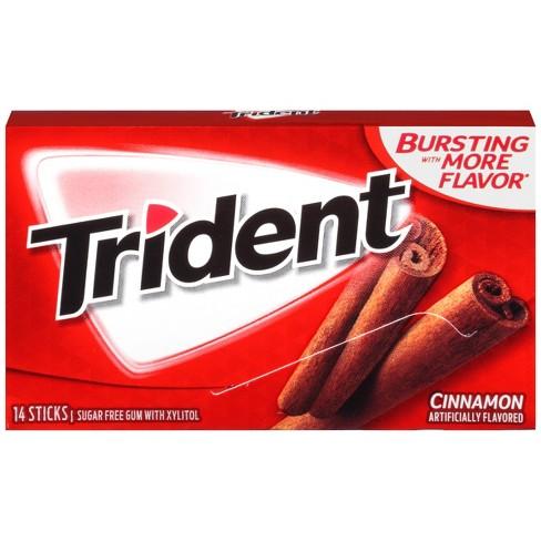 Trident Cinnamon Sugar Free Gum 095oz Target