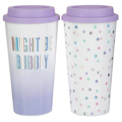 Slant Collections So Haute 2pk Travel Tumblers - Might be bubbly