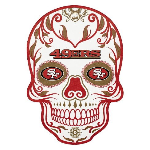 NFL San Francisco 49ers Small Outdoor Skull Decal - image 1 of 2