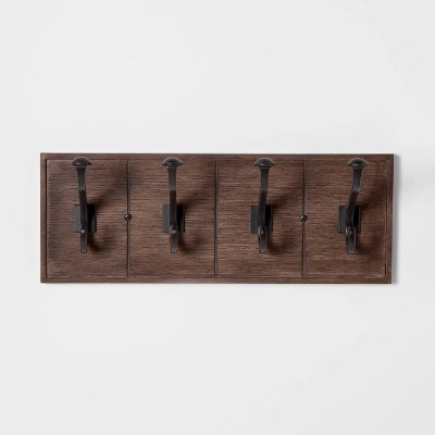 16  Domed Hook Rail Walnut - Threshold™