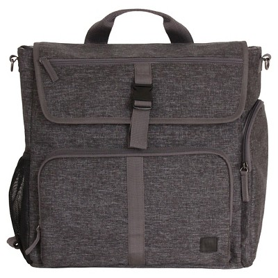 Diaper Dude Convertible Backpack Black Textured