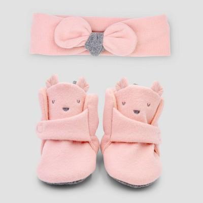 Baby Girls' 3pc Accessory Set - Cat & Jack™ Pink 0-3M