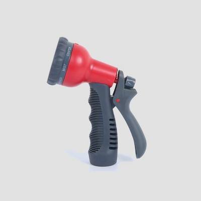 "8"" GKC-1201 8-Pattern Plastic Spray Gun Red - Sunneday"