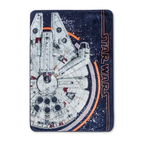 Star Wars Millennium Falcon Blue Gray Bed Blanket Twin Target