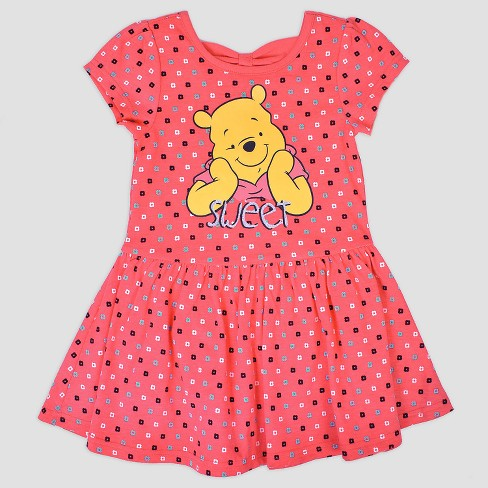 3b9107dc9 Toddler Girls' 2pk Disney Winnie the Pooh Short Sleeve Skater Dress -  Pink/White