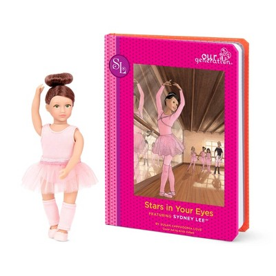 "Our Generation Read & Play Set - 6"" Ballerina Mini Doll Sydney Lee with Storybook"