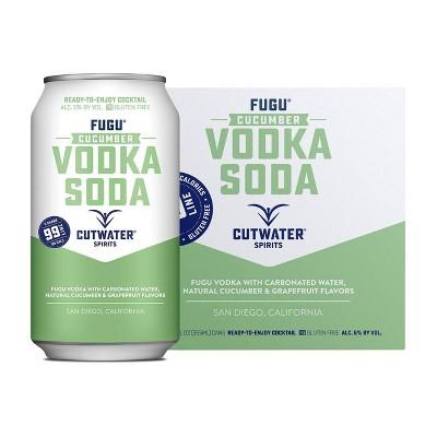 Cutwater Fugu Cucumber Vodka Soda Cocktail - 4pk/12 fl oz Cans