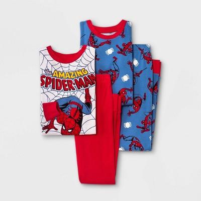 Boys' Marvel Spider-Man 4pc Pajama Set - Red/Blue