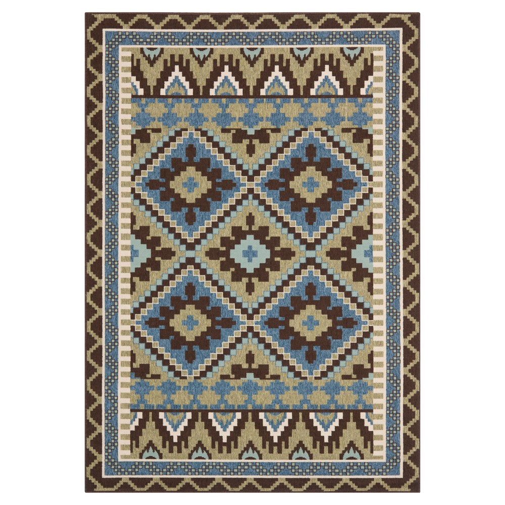 Burgos Accent Rug - Green/Chocolate (Green/Brown) - (4'x5'7) - Safavieh