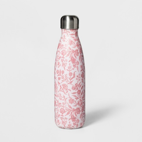 17oz Stainless Steel Hydration Bottle Floral Pink - Threshold™ - image 1 of 1