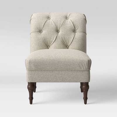 Wales Rollback Tufted Turned Leg Slipper Chair Beige - Threshold™