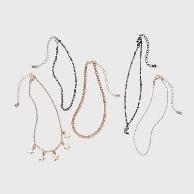 Girls' 5pk Star and Moon Necklace Set - art class™