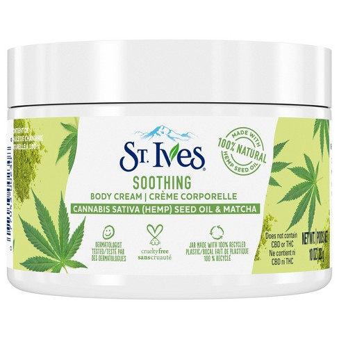 St. Ives Cannabis Sativa Seed Oil & Matcha Body Cream - 10oz - image 1 of 2