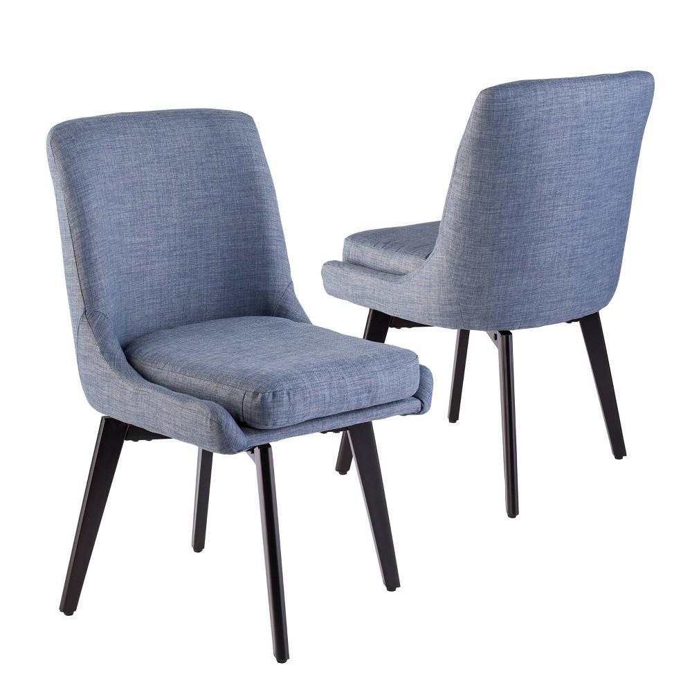 Super Set Of 2 Siobhan Swivel Accent Chairs Denim Blue Aiden Lane Uwap Interior Chair Design Uwaporg