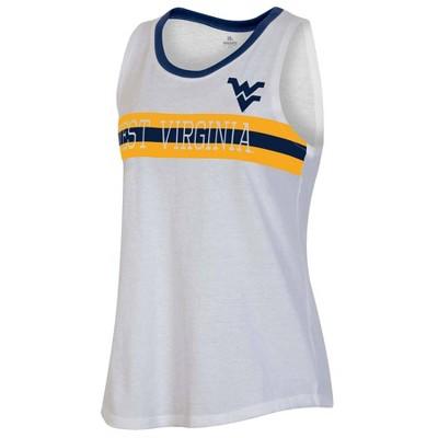 NCAA West Virginia Mountaineers Women's White Tank Top