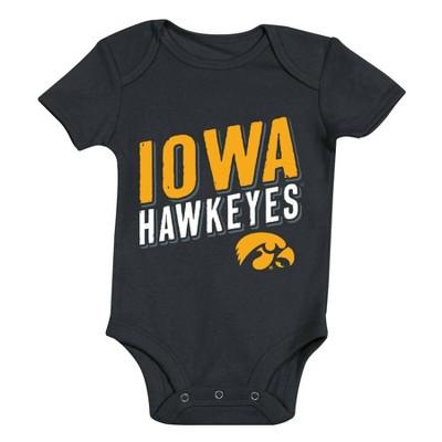 NCAA Iowa Hawkeyes Baby Boys' 3pk Bodysuit Set - 6-9M
