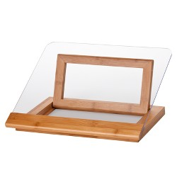 Lipper International Bamboo/Acrylic Cookbook Holder