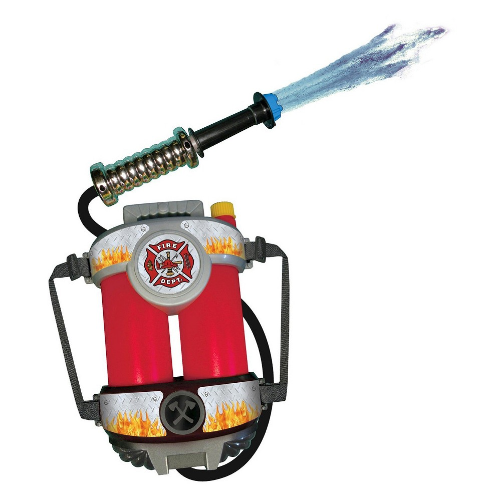 Halloween Super Soaking Fire Hose with Backpack Red - One Size Fits Most