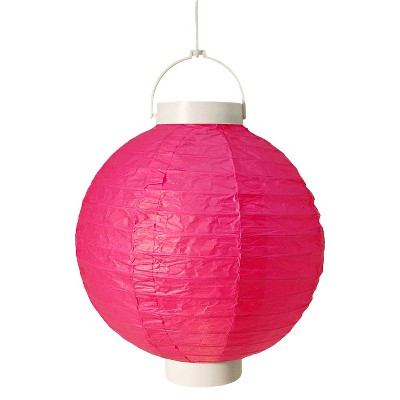 3ct Pink Battery Operated Paper Lantern