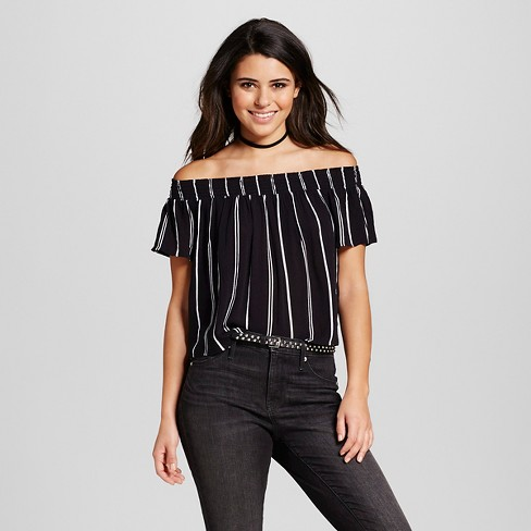 7432f04469b3f4 Women s Off the Shoulder Top Black - Xhilaration™ (Juniors ). Shop all  Xhilaration