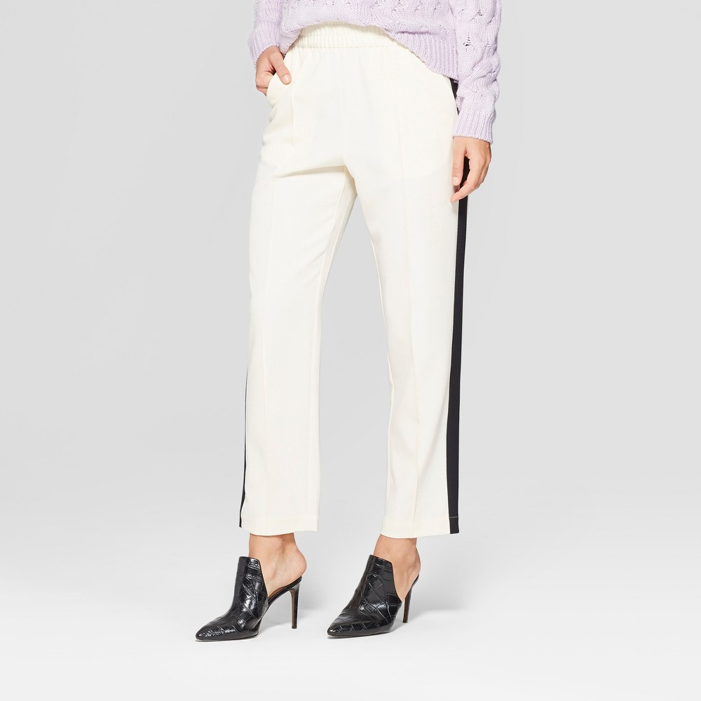 Women's Side Striped Ankle Trouser - Who What Wear Cream (Ivory) L