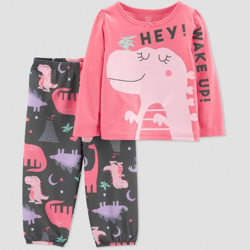 1e7429161 Toddler Girls' Dino 2pc Pajama Set - Just One You® made by carter's Pink