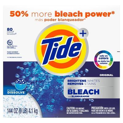 Tide Original Plus Bleach Powder Laundry Detergent - 144oz