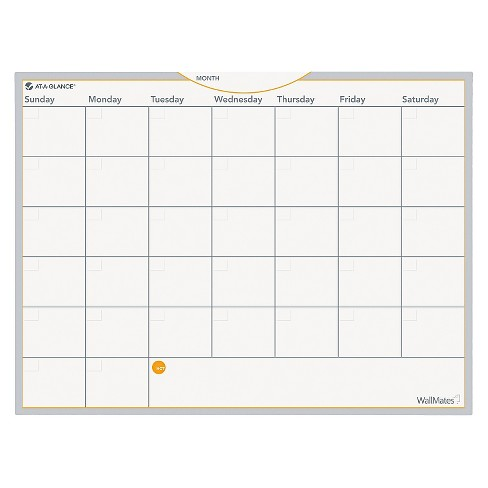 AT-A-GLANCE® WallMates Self-Adhesive Dry Erase Monthly Planning Surface, 24 x 18 - image 1 of 1