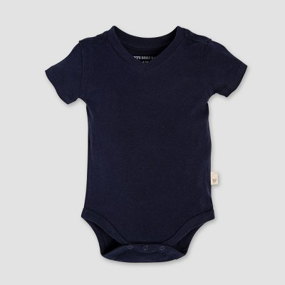 Burt's Bees Baby Baby Boys' Short Sleeve V-Neck Bodysuit - Blue 6-9M