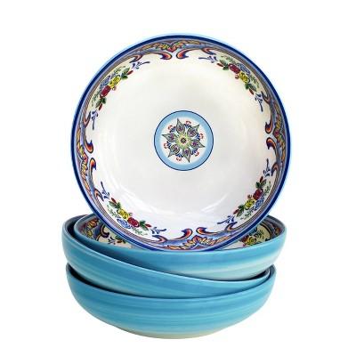 40oz 4pk Stoneware Zanzibar Pasta Bowls - Euro Ceramica