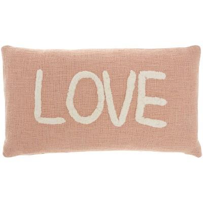 "12""x21"" Life Styles 'Love' Tufted Lumbar Throw Pillow - Mina Victory"