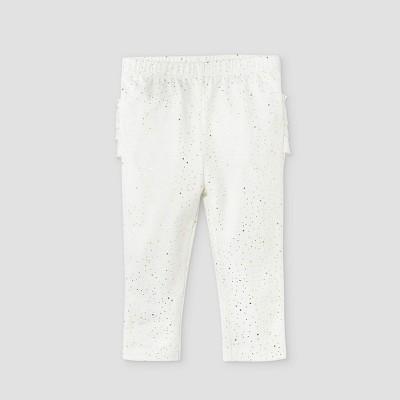 Baby Girls' Floral Ruffle Bum Leggings - Cat & Jack™ Off-White