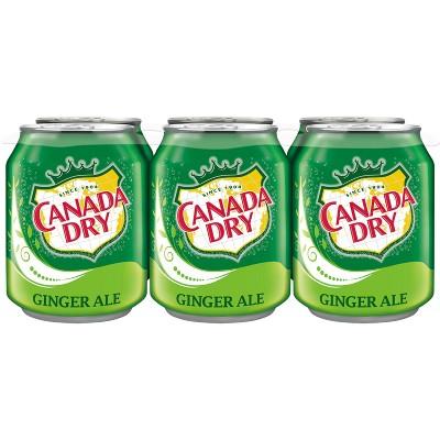 Canada Dry Ginger Ale Soda - 6pk/8 fl oz Cans