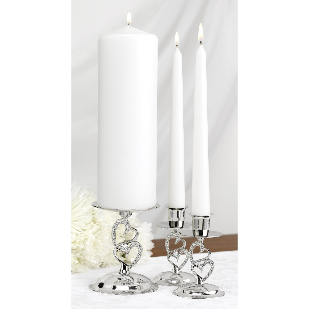 Image of Sparkling Love Wedding Collection Candle Stand Set
