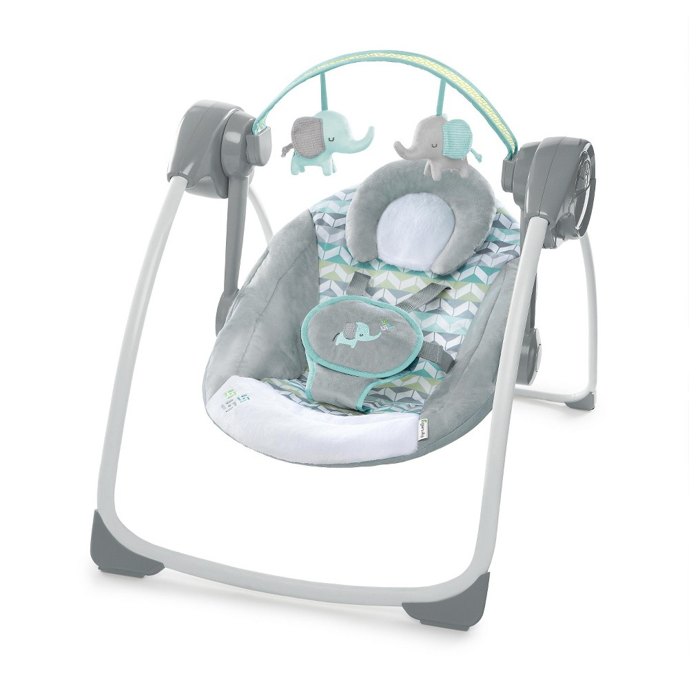 Image of Ingenuity Comfort 2 Go Portable Swing - Jungle Journey