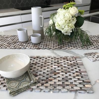2pk Rosewood Placemats White - Hip-o Modern Living