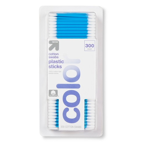 Cotton Swabs Colored Stick - 300ct - Up&Up™