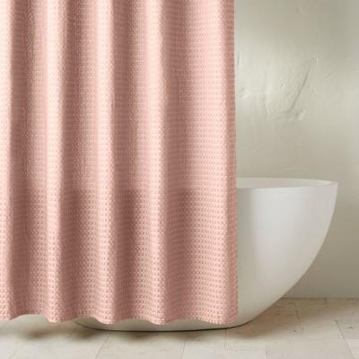 Waffle Shower Curtain Blush Pink - Casaluna™