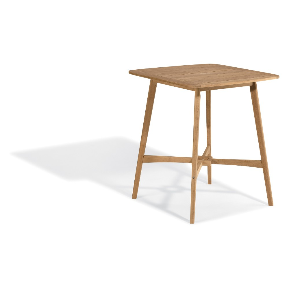 "Image of ""36"""" Islay Square Bar Table Natural - Oxford Garden, Brown"""