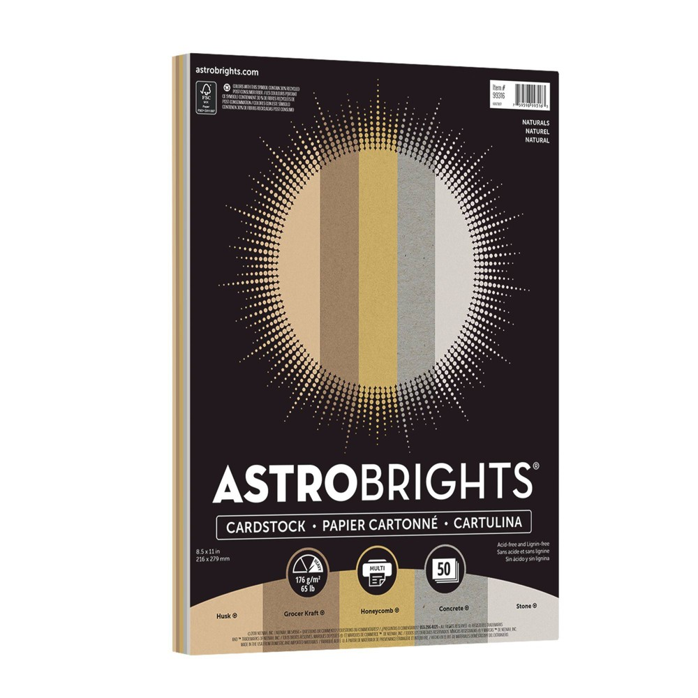 Image of Astrobrights 50ct Creative Collection Printer Paper, Brown