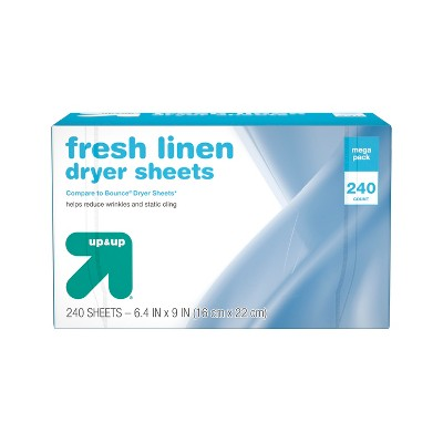 Fresh Linen Fabric Softener Dryer Sheets - 240ct - Up&Up™