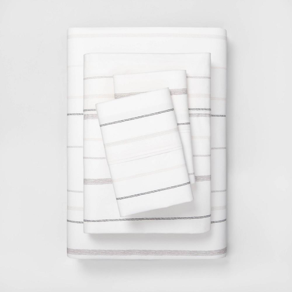 Queen Multistripe Organic Cotton Sheet Set Gray Hearth 38 Hand 8482 With Magnolia
