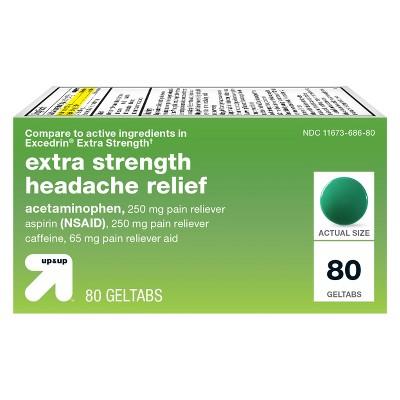 Acetaminophen/Aspirin (NSAID) Extra Strength Headache Relief Geltabs - 80ct - up & up™