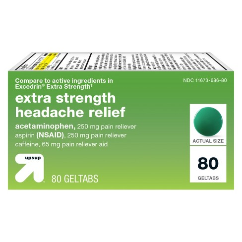 Acetaminophen/Aspirin (NSAID) Extra Strength Headache Relief Geltabs - Up&Up™ - image 1 of 1