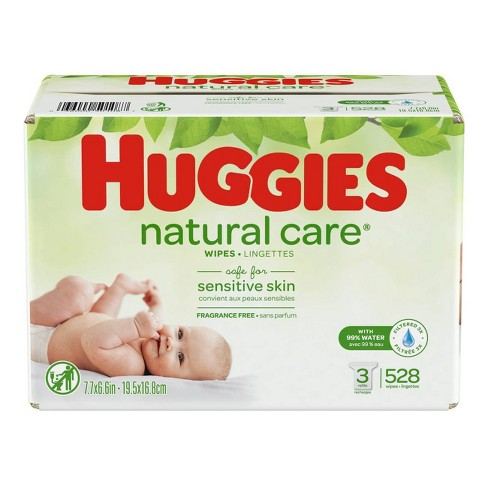 Huggies Natural Care Wipes 3pk - 528ct - image 1 of 5