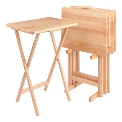 4pc Alex Snack Table Set Natural - Winsome